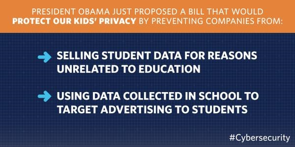 Obama on selling student data