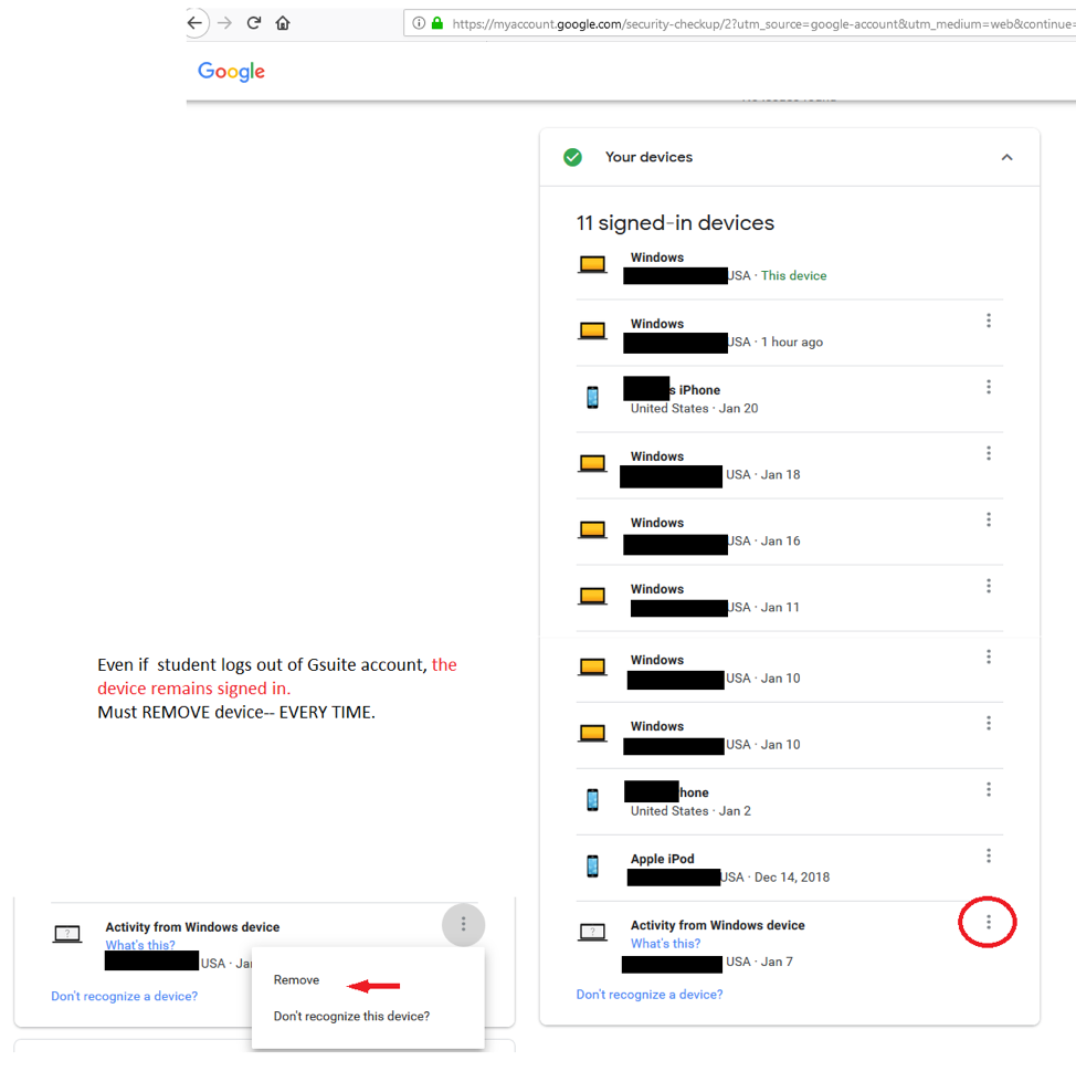Here's how to check your student's school-issued GSuite account